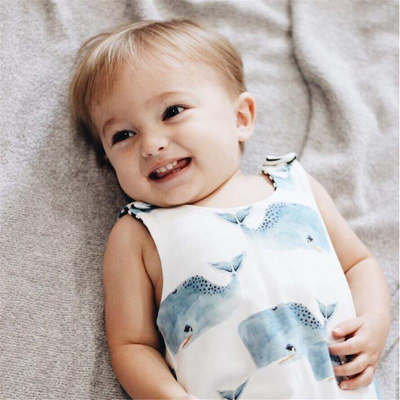 LouLi Sleeveless Sailor Whale Baby Romper - LouLi - Designed For Your Child