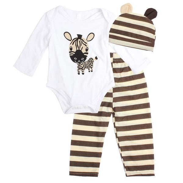 LouLi So Cute, Romper, Hats and Pants Baby Set - 7 colors! - LouLi - Designed For Your Child