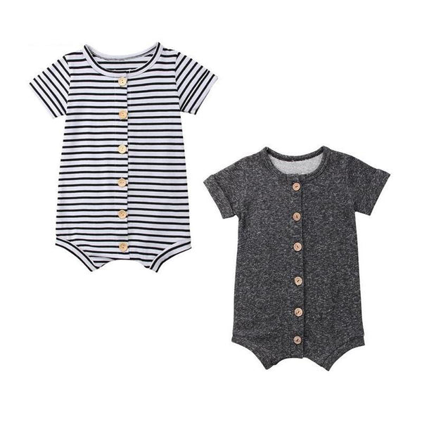 LouLi Stylish Striped or Solid Baby Romper - LouLi - Designed For Your Child