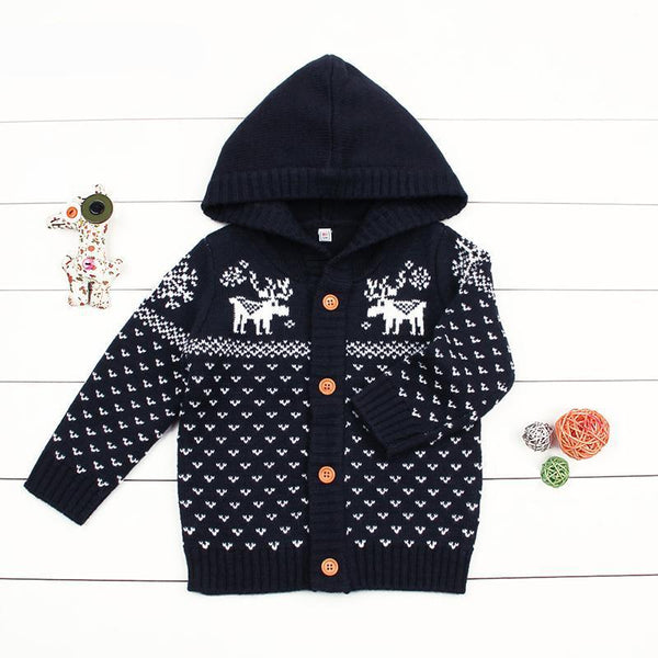 LouLi Warm Deer Knitted Christmas Sweater - LouLi - Designed For Your Child