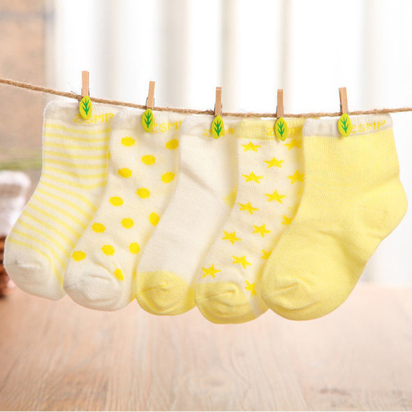 LouLi 5 Pairs Gentle Baby Socks Set - LouLi - Designed For Your Child