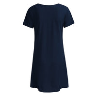 Short-sleeved Sleep T-Shirt Dress