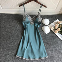 Embroidered Neck Lingerie Babydoll Nightwear