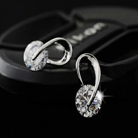 Austria Crystal Zircon Stud Earrings - Delicates By Yvonne