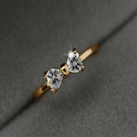 Austria Crystal Bow Finger Ring - Delicates By Yvonne