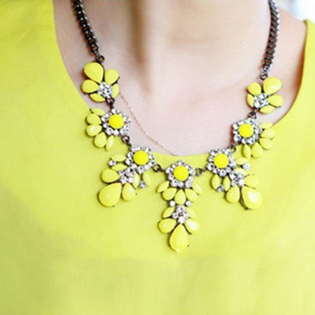 Rhinestone Bib Necklace - Delicates By Yvonne