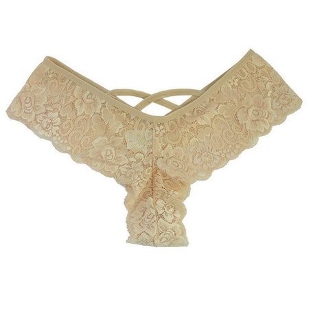 Criss-Cross Lace Thong - Delicates By Yvonne