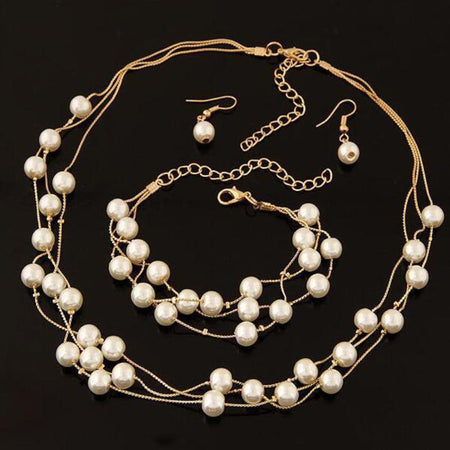 Imitation Pearl Jewelry Set - Delicates By Yvonne