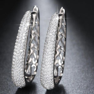 Luxury Oval Hoop Earrings - Delicates By Yvonne