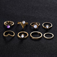 Retro Stackable Midi Ring Set - Delicates By Yvonne