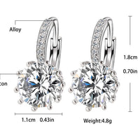 Silver Round Zirconia Earrings - Delicates By Yvonne