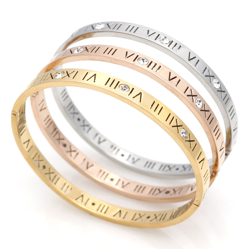 Roman Numero Cuff Bangle Bracelet - Delicates By Yvonne