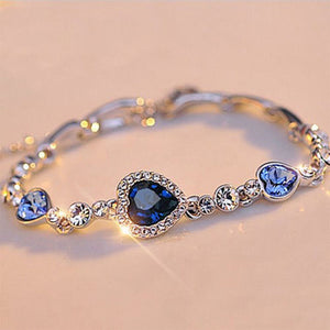 Ocean Blue Heart Bracelet - Delicates By Yvonne