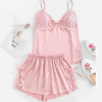 Pink Bralette Pajama Set - Delicates By Yvonne