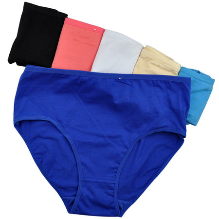 6pcs Cotton High-Waist Briefs - Delicates By Yvonne