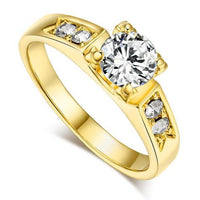 Classic Cubic Zirconia 6mm Ring - Delicates By Yvonne