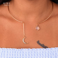Moon Crystal Torque Necklace - Delicates By Yvonne