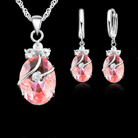 Crystal Water Drop Jewelry Set - Delicates By Yvonne