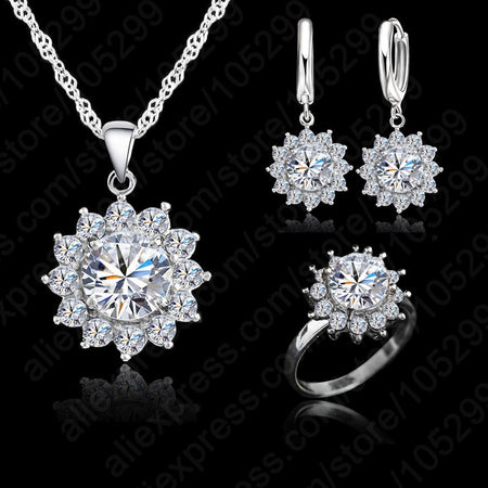 Sunflower Zirconia Jewelry Set - Delicates By Yvonne