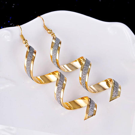 Spiral Twist Dangle Earrings - Delicates By Yvonne