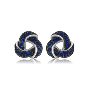 Blue Wraparound Stud Earrings - Delicates By Yvonne