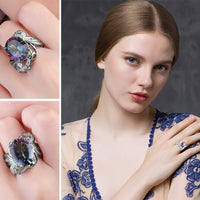 Mystic Topaz Concave Ring - Delicates By Yvonne