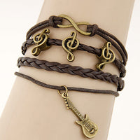 Multilayer Charm Leather Bracelet - Delicates By Yvonne