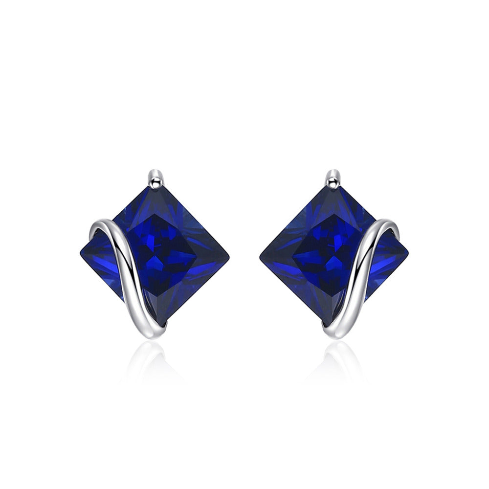 Classic Sapphire Stud Earring - Delicates By Yvonne