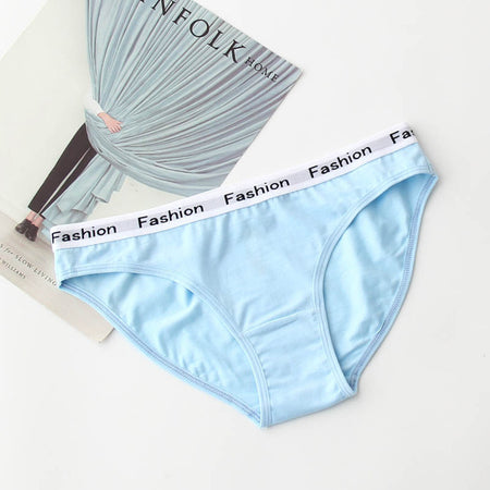 Fashion Cotton Seamless Briefs - Delicates By Yvonne