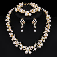 Trisome Pearl Jewelry Set - Delicates By Yvonne