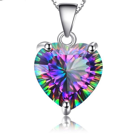 Mystic Topaz Heart Pendant Only - Delicates By Yvonne