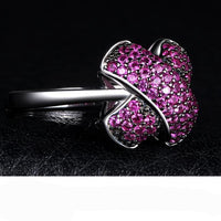 """X"" Mark Ruby Pave Ring - Delicates By Yvonne"