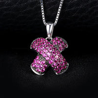 """X"" Mark Ruby Pave Necklace - Delicates By Yvonne"