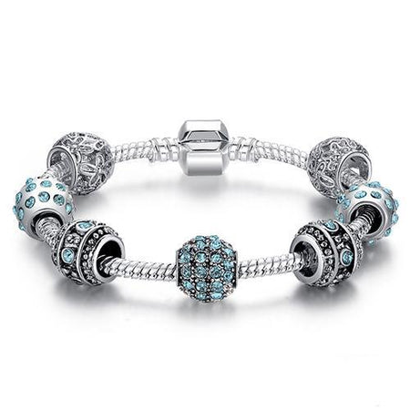 Crystal Bead Charm Bracelet - Delicates By Yvonne
