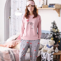 Cotton Long Sleeve Pyjamas 2 - Delicates By Yvonne