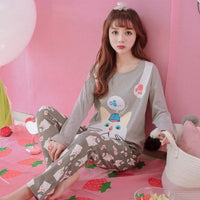 Cotton Long Sleeve Pyjamas - Delicates By Yvonne