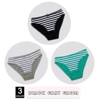 3pcs to 5pcs per lot Striped Cotton Briefs - Delicates By Yvonne