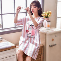 Summer Knitted Cotton O-neck Mini Sleepwear - Delicates By Yvonne