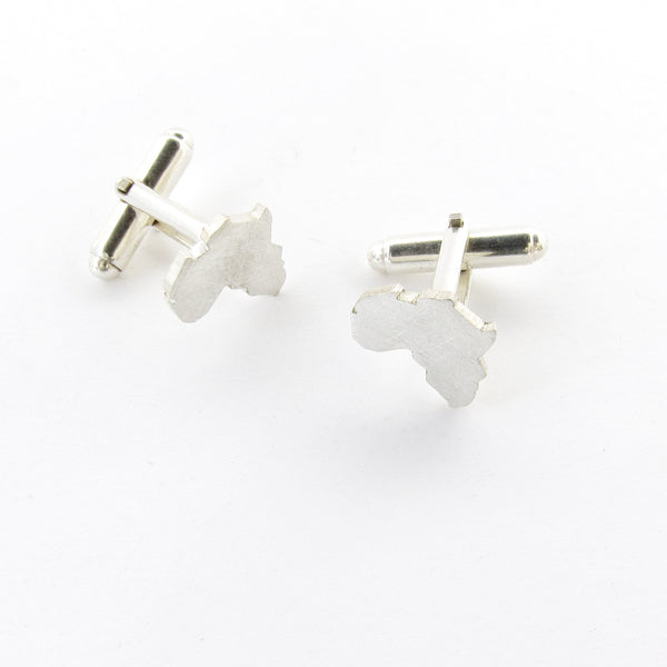 Silver Africa cuff links perfect mens gift by Savage Jewellery