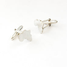 Modern Africa cuff links by designer jeweller Savage Jewellery