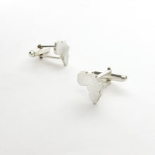 Africa continent sterling silver cuff links for men - wedding