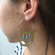 Maasai earrings with turquoise stones