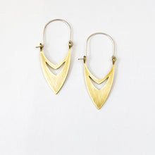Arabic style earrings in brass by Durban jewellery designer Savage Jewellery