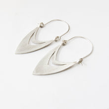 Silver Arabic style drop earrings by Savage Jewellery, South African design