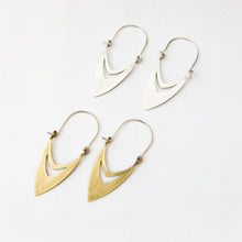 Arabic style earrings by Durban designer Savage Jewellery in silver or brass