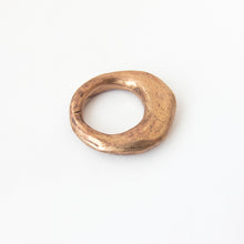 Organic artefact ring - silver, brass or bronze