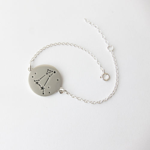 zodiac constellation silver bracelet - Aries by Savage Jewellery star signs
