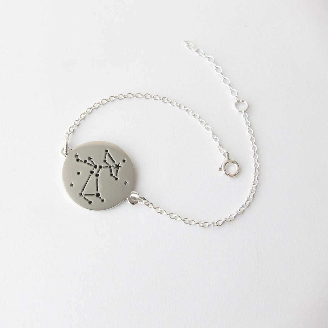 star sign constellations silver bracelet - Sagittarius by Savage Jewellery Zodiac jewelry