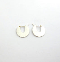 Unique silver disk earrings by Savage Jewellery