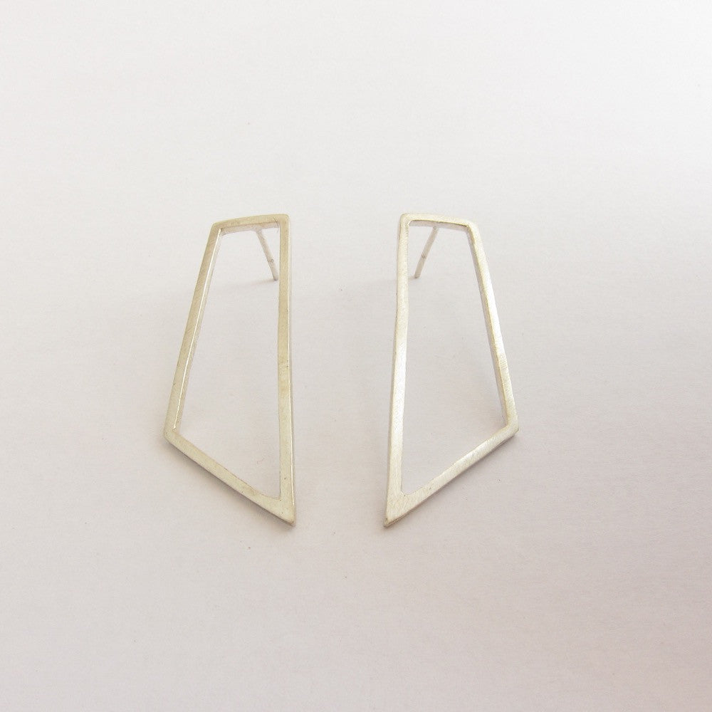 Long Quadrilateral Stud Earring